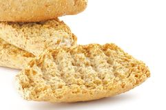 Whole grain biscuits close up Stock Image
