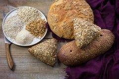 Whole grain bread. stock photo
