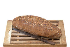 Whole Grain Bread on board Royalty Free Stock Photo