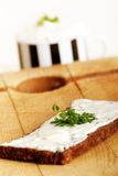 Whole-grain bread and cheese Stock Photography