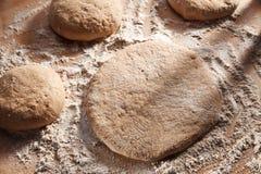 Whole grain bread dough Stock Photo
