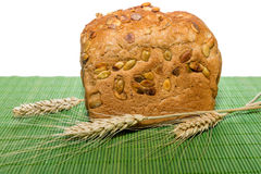 Whole grain bread with ears Royalty Free Stock Photography