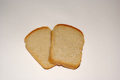 Whole grain bread on grey background royalty free stock photography