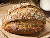 Whole grain bread loaf Stock Photo