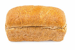 Whole grain bread loaf on a white background Royalty Free Stock Photo