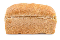 Whole grain bread loaf on a white background Royalty Free Stock Photography