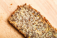 Whole grain bread with many big grains Royalty Free Stock Photography