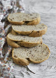 Whole grain bread with pecans Royalty Free Stock Photography