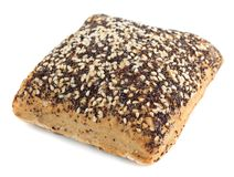 Whole grain bread with poppy and flax seeds Royalty Free Stock Photos