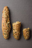 Whole grain bread roll Royalty Free Stock Photos