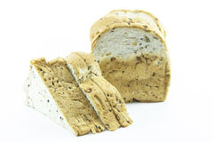 Whole grain bread sliced with gold texture Stock Image