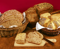 Whole grain bread stock images
