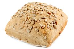 Whole grain bread with sunflower seeds Royalty Free Stock Photos