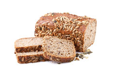 Whole grain bread with sunflower seeds Royalty Free Stock Photography