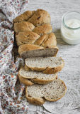 Whole grain bread with walnuts Royalty Free Stock Images