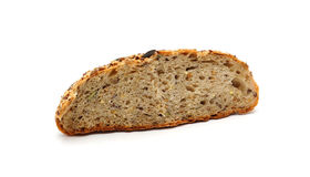 Whole grain bread  on white background Royalty Free Stock Photography