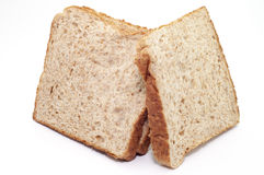 THE WHOLE GRAIN BREAD ON WHITE BACKGROUND. Stock Photos