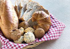 Whole grain bread. Wholemeal bread is a healthy food Stock Images