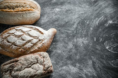 Whole grain breads Stock Photography