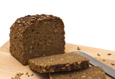 Whole grain brown bread isolated Royalty Free Stock Photos