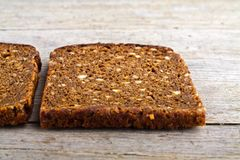 Whole grain brown bread. Royalty Free Stock Images