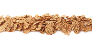 Whole grain cereal flakes isolated Royalty Free Stock Photos