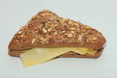 Whole grain cheese sandwich Royalty Free Stock Photography