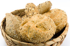Whole grain core bun Stock Image