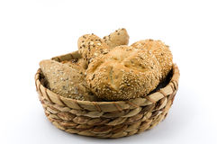 Whole grain core bun Royalty Free Stock Photography