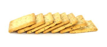 Whole grain crackers Stock Photography