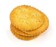 Whole grain crackers isolated Royalty Free Stock Photos