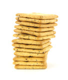 Whole grain crackers stack Royalty Free Stock Photography