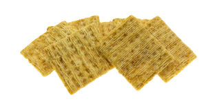 Whole grain crackers on a white background Stock Images