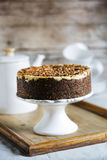 Whole grain crust cake with cream cheese Stock Photos