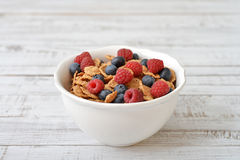 Whole-grain flakes Stock Photography