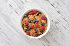 Whole-grain flakes Stock Image