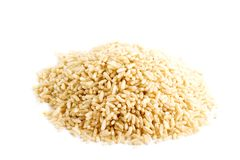 Whole Grain Instant Rice. Bulk whole grain instant cooking rice royalty free stock images