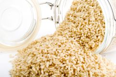 Whole Grain Instant Rice Stock Image
