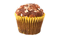 Whole Grain Muffin with Clipping Path Royalty Free Stock Photography