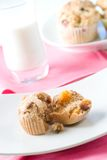 Whole grain muffins Royalty Free Stock Images