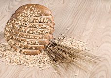 Whole Grain Oat Bread. Close up Royalty Free Stock Images