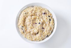 Whole grain oat porridge Royalty Free Stock Photography