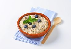 Whole grain oat porridge Stock Image