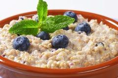 Whole grain oat porridge Stock Image