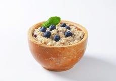 Whole grain oat porridge Stock Photo