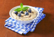 Whole grain oat porridge Royalty Free Stock Images