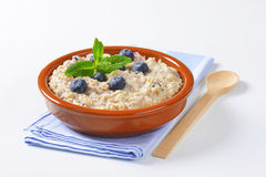 Whole grain oat porridge Royalty Free Stock Image