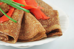 Whole grain pancakes Royalty Free Stock Photography
