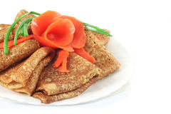 Whole grain pancakes Royalty Free Stock Photos