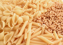Whole grain pasta Royalty Free Stock Image